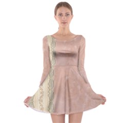 Guestbook Background Victorian Long Sleeve Skater Dress