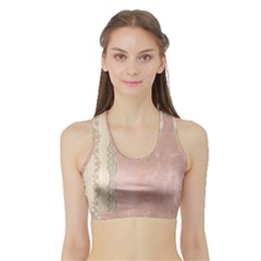 Guestbook Background Victorian Sports Bra with Border