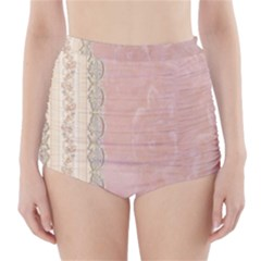 Guestbook Background Victorian High-Waisted Bikini Bottoms