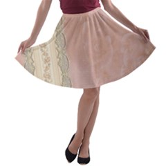 Guestbook Background Victorian A-line Skater Skirt