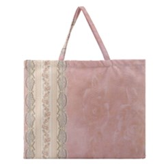Guestbook Background Victorian Zipper Large Tote Bag