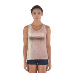 Guestbook Background Victorian Women s Sport Tank Top
