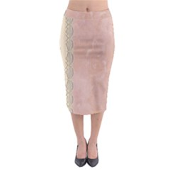 Guestbook Background Victorian Midi Pencil Skirt