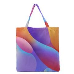 Color Orange Copy Grocery Tote Bag