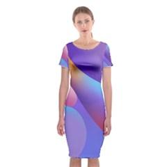 Color Orange Copy Classic Short Sleeve Midi Dress
