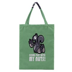 Pet Squirrel Green Nuts Classic Tote Bag