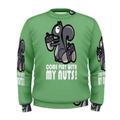 Pet Squirrel Green Nuts Men s Sweatshirt