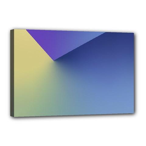 Purple Yellow Canvas 18  x 12