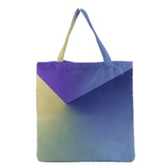 Purple Yellow Grocery Tote Bag