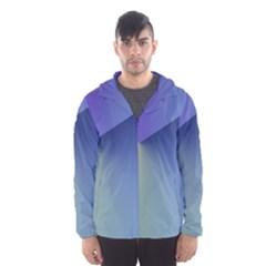 Purple Yellow Hooded Wind Breaker (Men)
