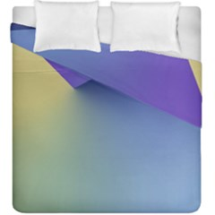 Purple Yellow Duvet Cover Double Side (king Size)