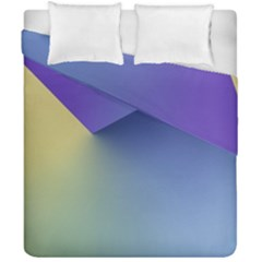 Purple Yellow Duvet Cover Double Side (california King Size)