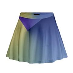 Purple Yellow Mini Flare Skirt