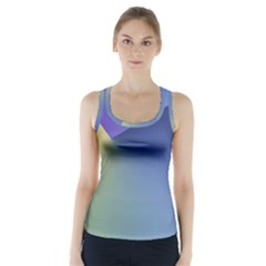 Purple Yellow Racer Back Sports Top