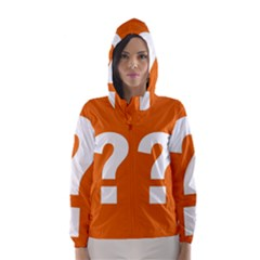 Question Mark Hooded Wind Breaker (Women)