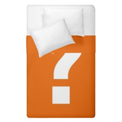 Question Mark Duvet Cover Double Side (Single Size)