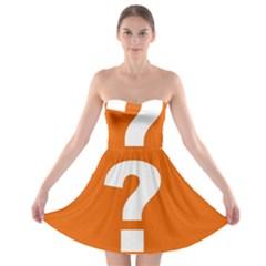Question Mark Strapless Bra Top Dress