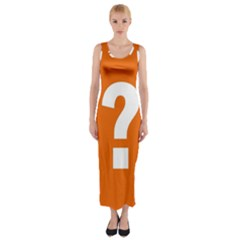 Question Mark Fitted Maxi Dress