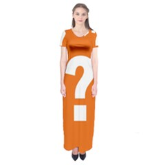 Question Mark Short Sleeve Maxi Dress