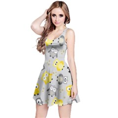 Owl Bird Yellow Animals Reversible Sleeveless Dress