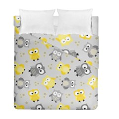 Owl Bird Yellow Animals Duvet Cover Double Side (full/ Double Size)