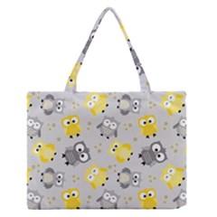 Owl Bird Yellow Animals Medium Zipper Tote Bag
