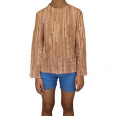 Parquet Floor Kids  Long Sleeve Swimwear