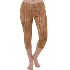 Parquet Floor Capri Yoga Leggings