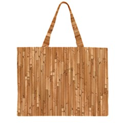 Parquet Floor Zipper Large Tote Bag