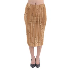 Parquet Floor Midi Pencil Skirt