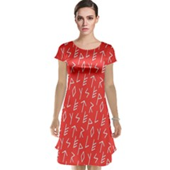 Red Alphabet Cap Sleeve Nightdress