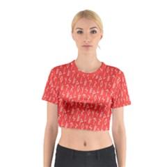 Red Alphabet Cotton Crop Top