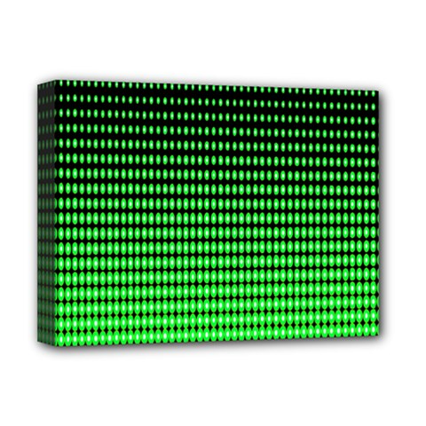 Neon Green And Black Halftone Copy Deluxe Canvas 16  x 12