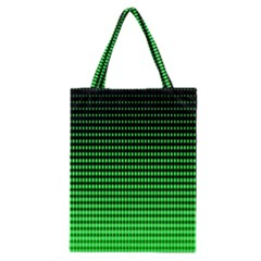 Neon Green And Black Halftone Copy Classic Tote Bag