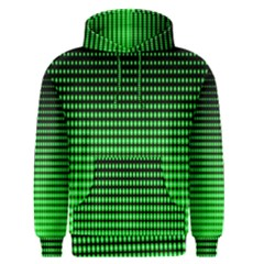 Neon Green And Black Halftone Copy Men s Pullover Hoodie
