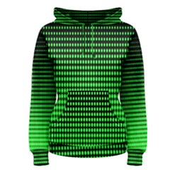 Neon Green And Black Halftone Copy Women s Pullover Hoodie