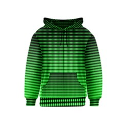 Neon Green And Black Halftone Copy Kids  Zipper Hoodie