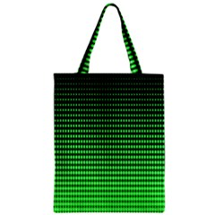 Neon Green And Black Halftone Copy Zipper Classic Tote Bag