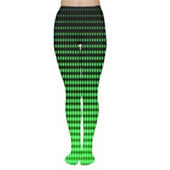 Neon Green And Black Halftone Copy Women s Tights