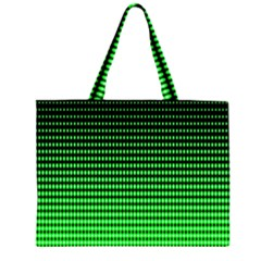 Neon Green And Black Halftone Copy Large Tote Bag