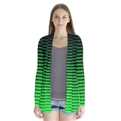 Neon Green And Black Halftone Copy Cardigans
