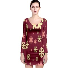 Red Resolution Version Long Sleeve Bodycon Dress