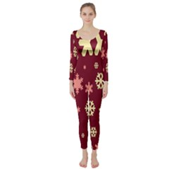 Red Resolution Version Long Sleeve Catsuit