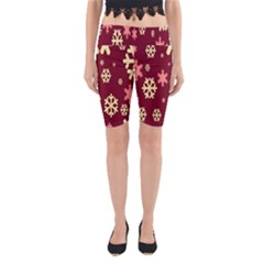 Red Resolution Version Yoga Cropped Leggings