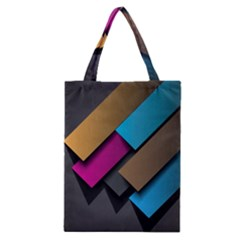 Shapes Box Brown Pink Blue Classic Tote Bag
