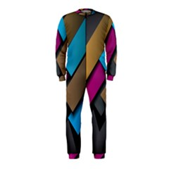 Shapes Box Brown Pink Blue OnePiece Jumpsuit (Kids)
