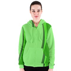 Simple Green Women s Zipper Hoodie