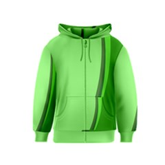 Simple Green Kids  Zipper Hoodie