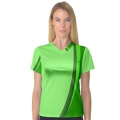 Simple Green Women s V-Neck Sport Mesh Tee
