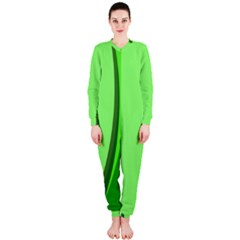 Simple Green OnePiece Jumpsuit (Ladies)